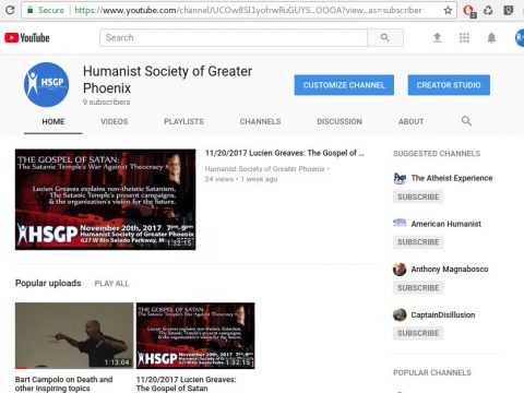HSGP's YouTube Channel Screenshot